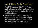 adolf hitler the nazi party