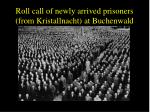 roll call of newly arrived prisoners from kristallnacht at buchenwald