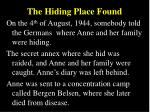 the hiding place found