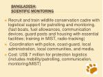 bangladesh scientific monitoring