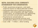 nepal building local community stewardship for conservation