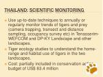 thailand scientific monitoring