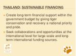thailand sustainable financing