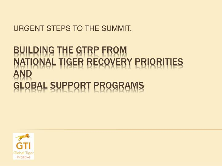 urgent steps to the summit n.