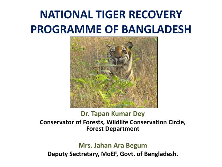 national tiger recovery programme of bangladesh n.