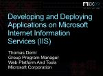 developing and deploying applications on microsoft internet information services iis
