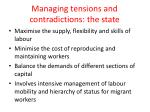 managing tensions and contradictions the state