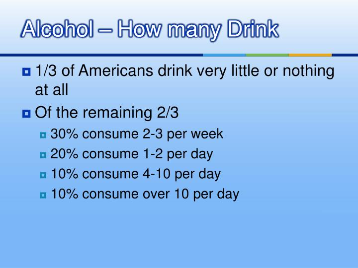 Alcohol – How many Drink
