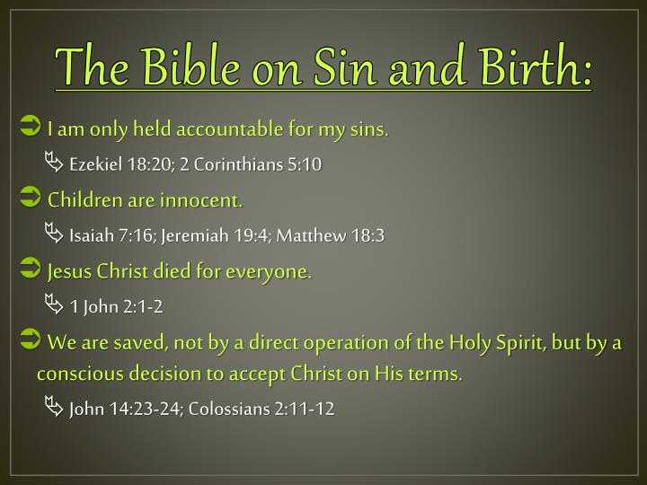 The Bible on Sin and