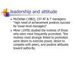 leadership and attitude