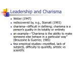 leadership and charisma