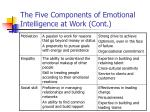 the five components of emotional intelligence at work cont