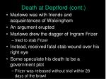 death at deptford cont