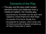 elements of the play
