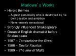 marlowe s works