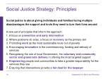 social justice strategy principles