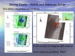 stirling castle agds and sidescan sonar