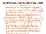 demineralization remineralization