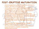 post eruptive maturation