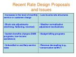 recent rate design proposals and issues