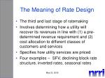 the meaning of rate design