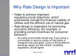 why rate design is important