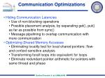 communication optimizations
