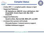 compiler status