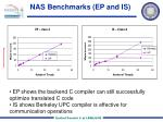nas benchmarks ep and is