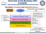 overview of the berkeley upc compiler