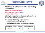 parallel loops in upc