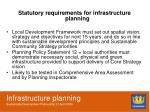 infrastructure planning sustainable development partnership 21 april 20094