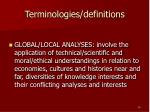 terminologies definitions3