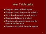 year 7 rich tasks