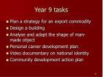 year 9 tasks