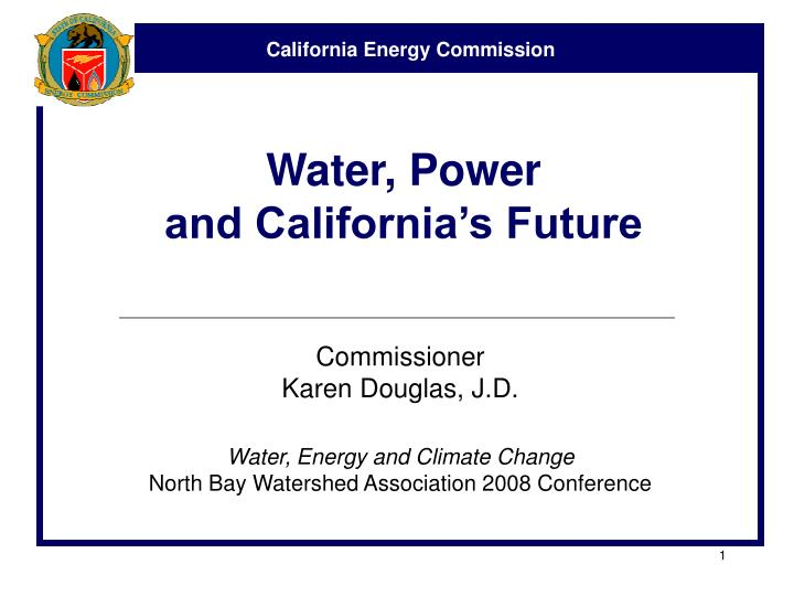 water power and california s future n.