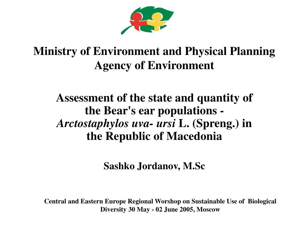 ministry of environment and physical planning agency of environment l.