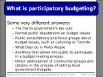 what is participatory budgeting1