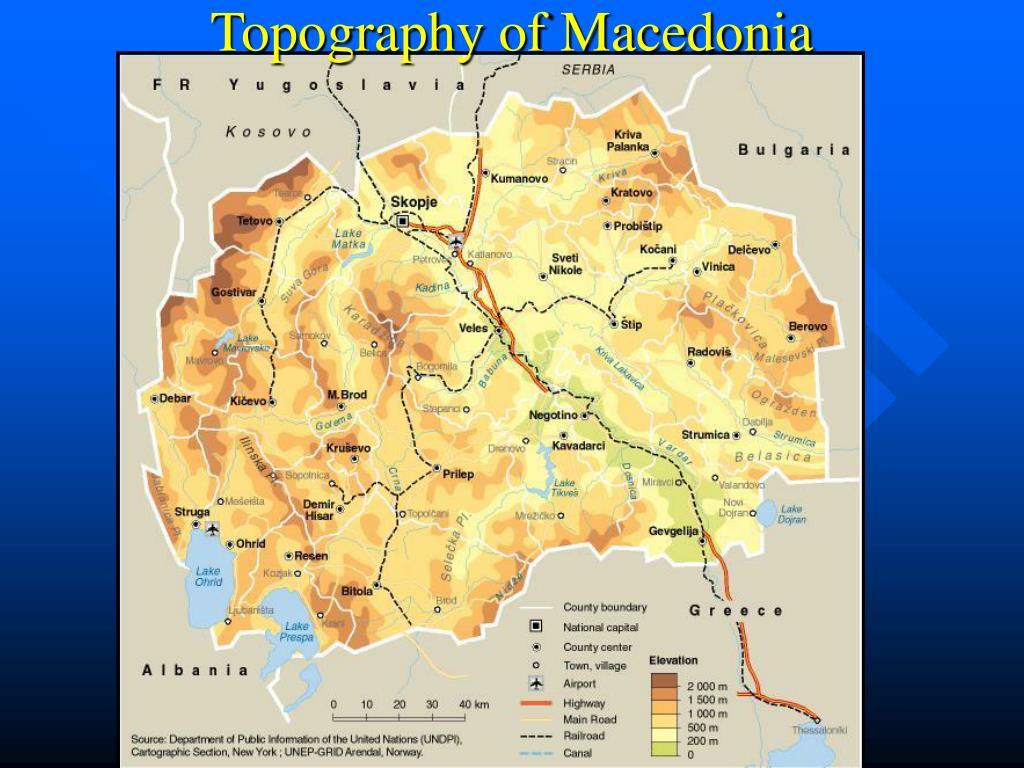 Topography of Macedonia