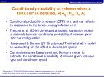 conditional probability of release when a tank car is derailed p r ij h ij d i a