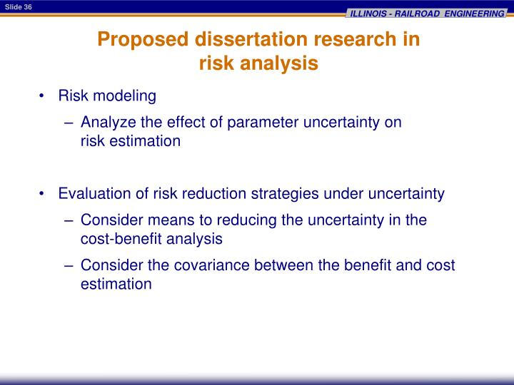 Proposed dissertation research in