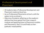 professional development and placement