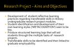 research project aims and objectives