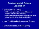 environmental crimes legislation