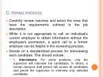 c hiring process