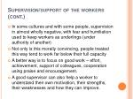 supervision support of the workers cont