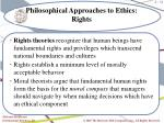 philosophical approaches to ethics rights