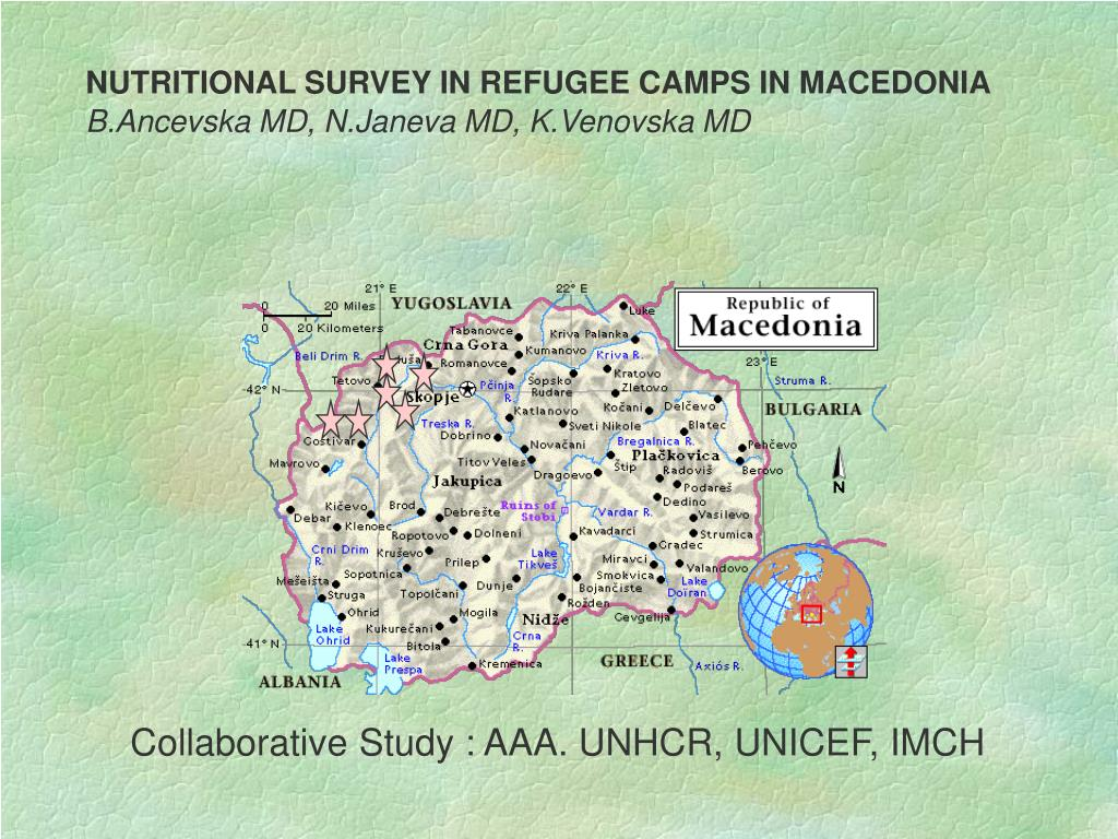 NUTRITIONAL SURVEY IN REFUGEE CAMPS IN MACEDONIA