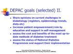 depac goals selected ii