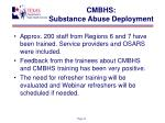 cmbhs substance abuse deployment